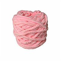 Велюровая пряжа для ручного вязания, толщиной 0,8 мм бледно-розовый