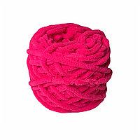 Велюровая пряжа для ручного вязания, толщиной 0,8 мм ярко-розовый