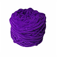 Велюровая пряжа для ручного вязания, толщиной 0,8 мм фиолетовый