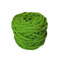 Велюровая пряжа для ручного вязания, толщиной 0,8 мм ярко-салатовый