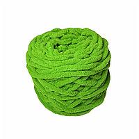 Велюровая пряжа для ручного вязания, толщиной 0,8 мм салатовый