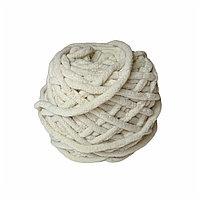 Велюровая пряжа для ручного вязания, толщиной 0,8 мм молочный