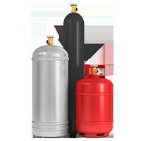 Баллоны газовые и комплектующие
