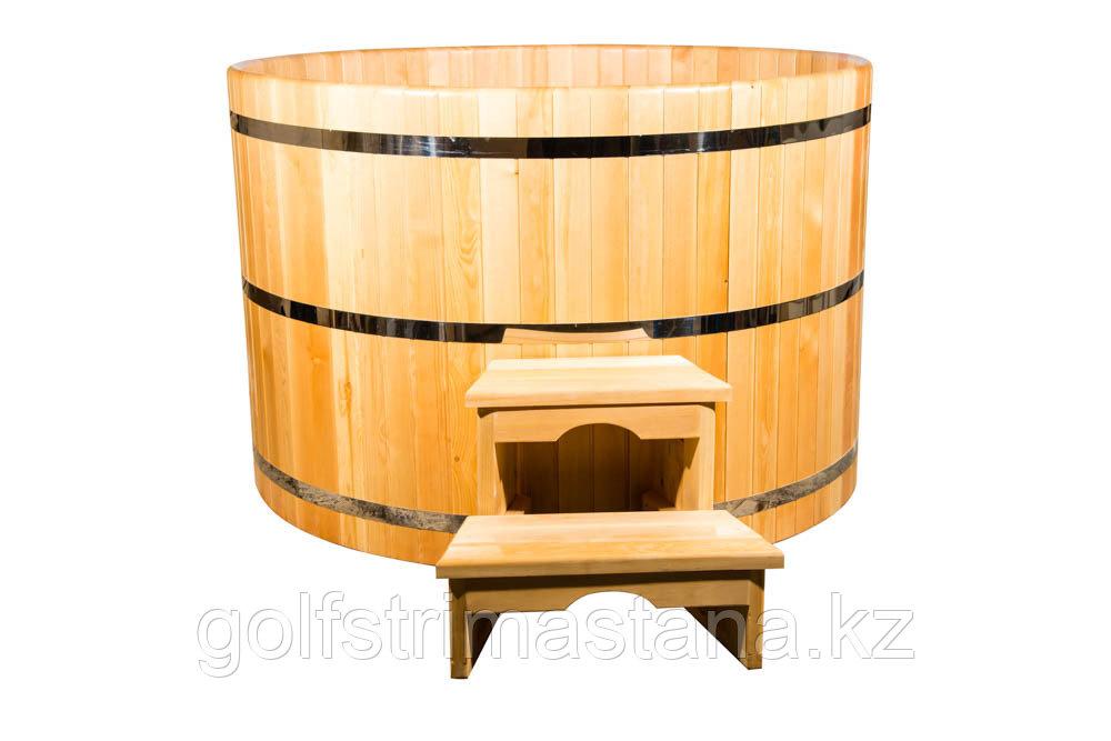 Купель кедровая, круглая, 100*120*/4 см