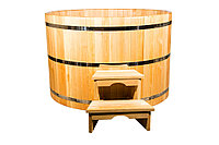 Купель кедровая, круглая, 100*220*/4 см, фото 1