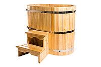 Купель кедровая, овальная, 100*100*170/4 см, фото 1