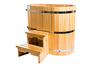 Купель кедровая, овальная, 100*120*200/4 см, фото 1
