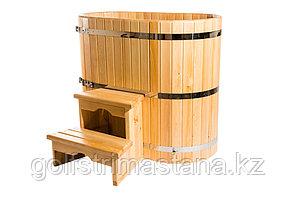 Купель кедровая, овальная, 120*120*200/4 см
