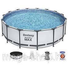 Каркасный бассейн 457х122 см Bestway 56438 полный комплект