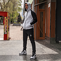 Спортивный костюм Air Jordan Gray\Black, фото 3