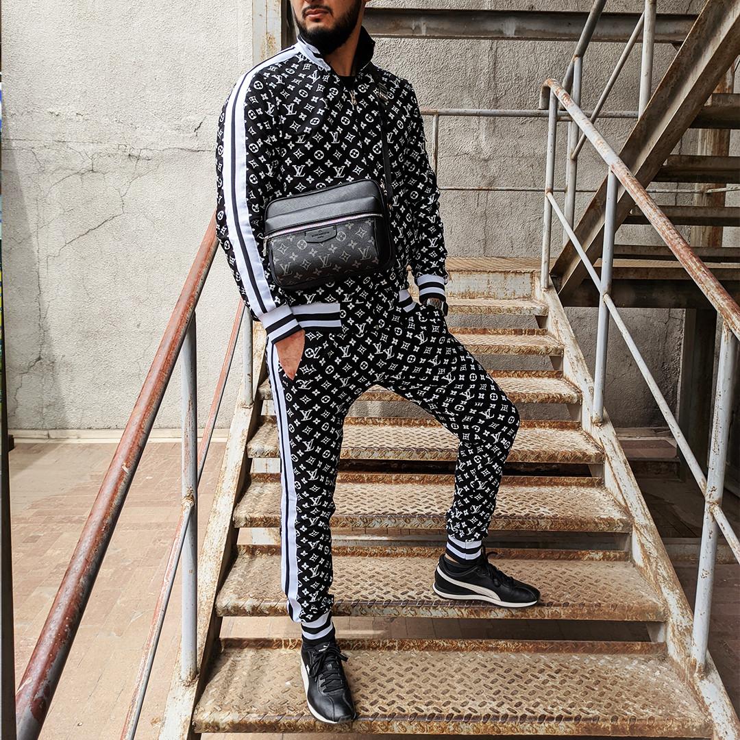 Спортивный костюм Louis Vuitton Black в Алматы