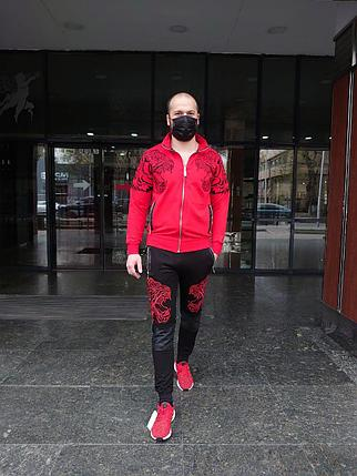 Люксовый спортивный костюм Philipp Plein Tigers Red, фото 2