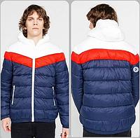 Куртка молодежная , сине-белая