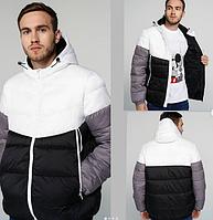 Куртка молодежная , счерно-белая