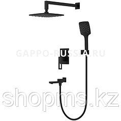 Смеситель Gappo G7117-6 Ванна чёрный