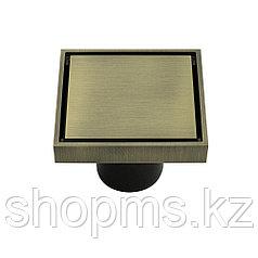 Трап латунный бронза 100х100мм выход 50мм MAGNUS 00060