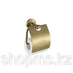 Держатель туалетной бумаги с крышкой Potato P2603 бронза