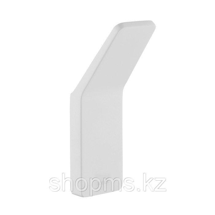 Крючок одинарный Slide, белый матовый, IDDIS.