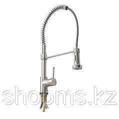 Смеситель кухонный боковой с гибким пружинным изливом с фиксацией BRIMIX 8251