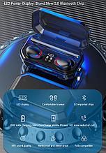 Беспроводные наушники M15 TWS Bluetooth 5,1, аирподс 2000 мп AirPods с Power Bank
