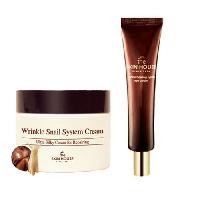 Регенерирующий крем для лица с муцином улитки The Skin House Wrinkle Snail System Cream