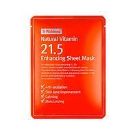 Витаминная антиоксидантная тканевая маска By Wishtrend Natural Vitamin 21,5% Enchancing Sheet Mask
