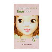Полоска от черных точек с экстрактом зелёного чая Etude House Green Tea Nose Pack