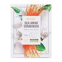 Тканевая маска с протеинами шелка Petitfee Silk Amino Serum Mask