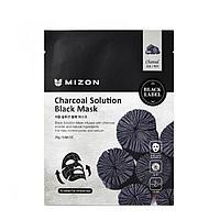Черная маска с углем для очищения пор Mizon Charcoal Solution Black