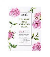 Успокаивающая тканевая маска с чайным деревом и розой Petitfee Tea Tree Rose Calming Mask Pack