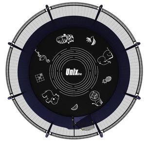Батут UNIXline SUPREME GAME 8 ft (blue) - фото 3