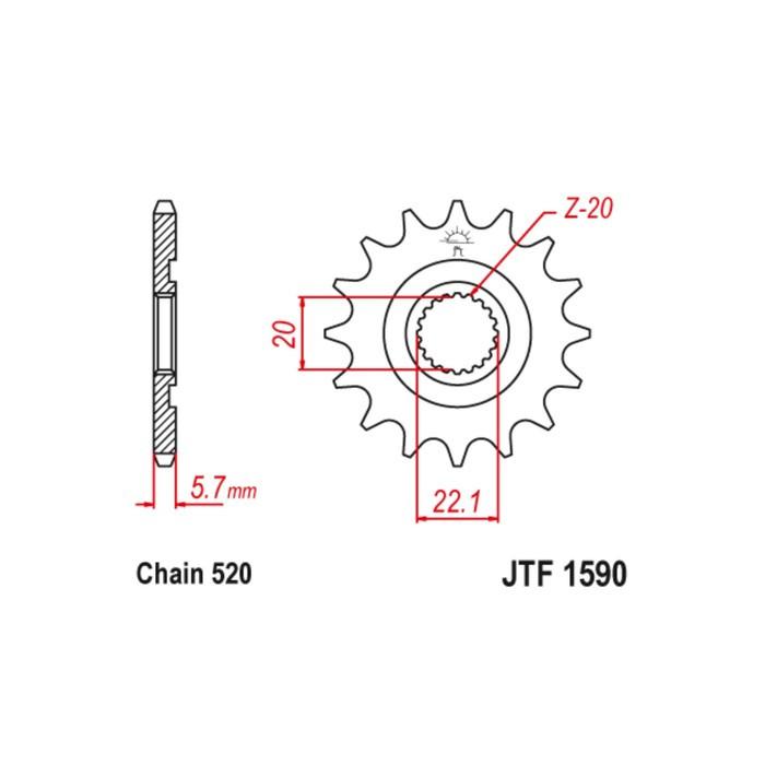 Звезда ведущая JT sprockets JTF1590-12