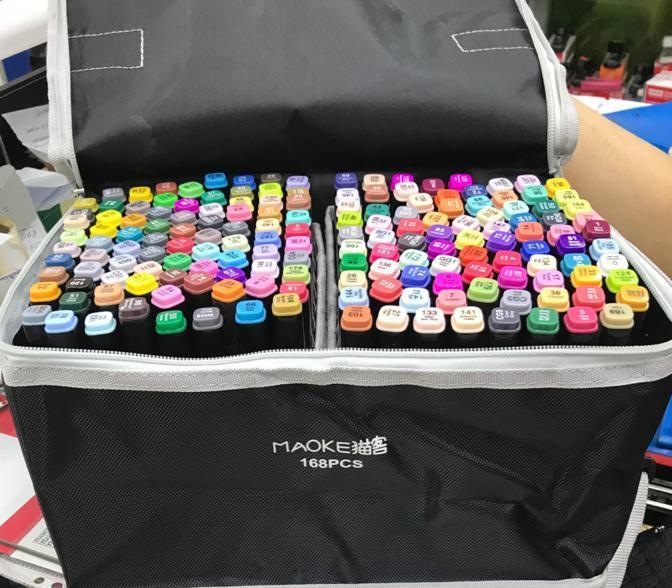 Маркеры для скетчинга 168 цветов