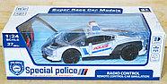 Немного помятая!!! 666-49 Spetial Police Ламборджини полиция на р/у 26*9см, фото 2