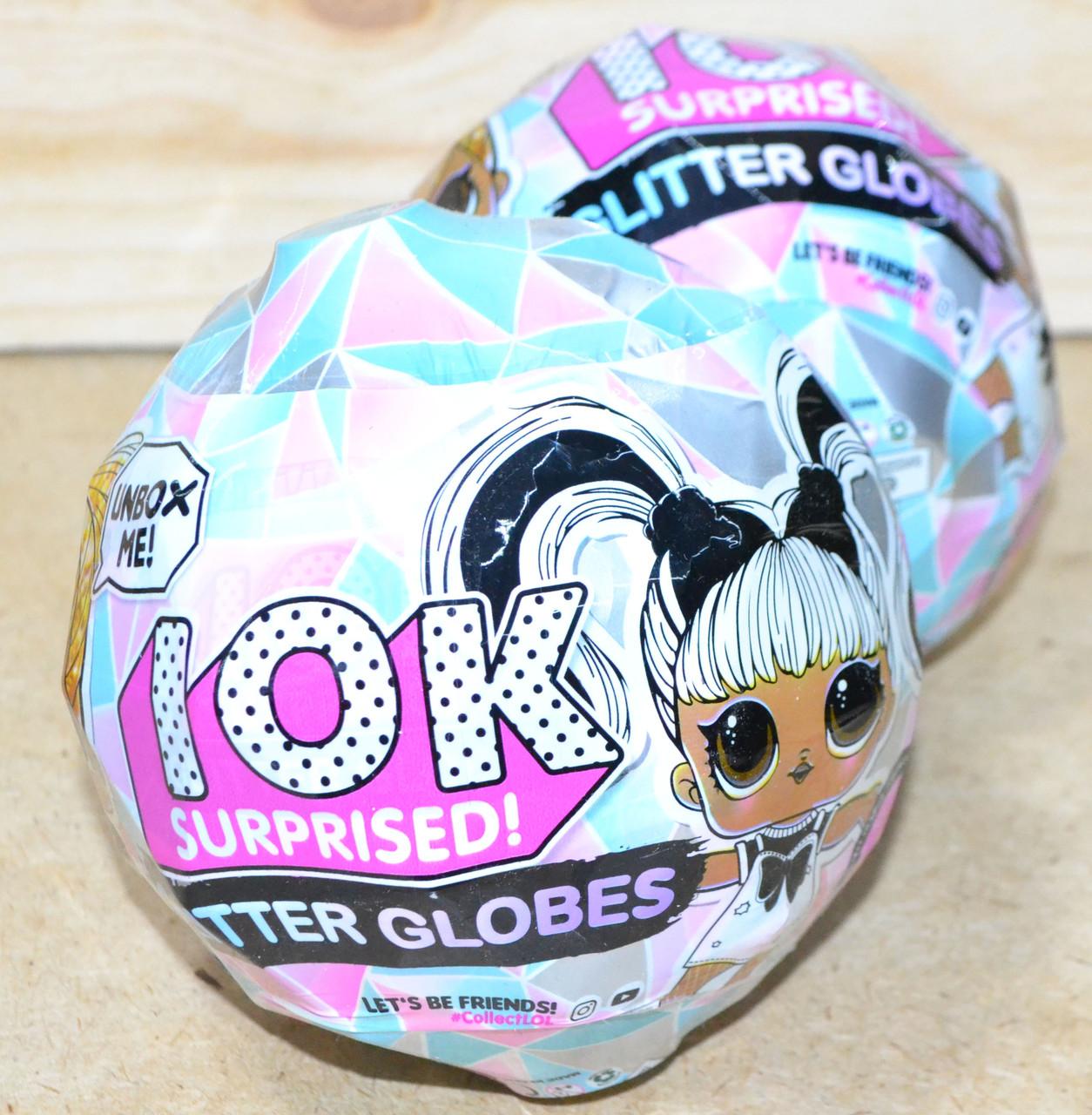 Упаковка порвана!! BB078 Кукла Glitter Globes  в кристале светится, цена за 1шт 13*11