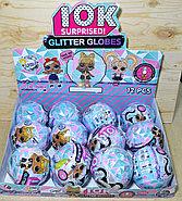 Упаковка порвана!! BB078 Кукла Glitter Globes  в кристале светится, цена за 1шт 13*11, фото 2