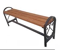 Уличная скамейка без спинки с узором и поручнями (1,5м)