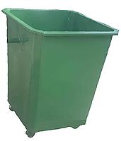 Мусорные контейнеры для ТБО 0,75 куб. без крышки, с колесами