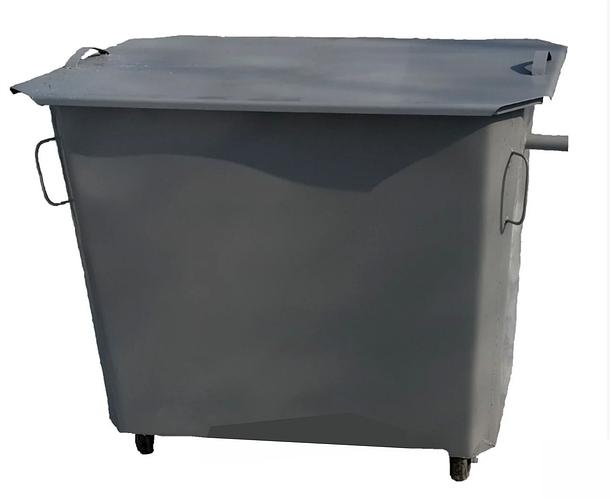 Металлические контейнеры со съемной крышкой на колесах 1100л