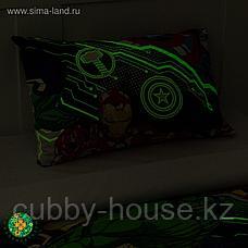 Постельное белье 1,5 сп Neon Series, Мстители, 143*215 см, 150*214 см, 50*70 см -1 шт, фото 3