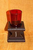 Подсвечник красный стакан
