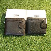Мужское портмоне клатч кошелёк Petek Collection модель 015 Black и Coffe. Видео обзор в описании!