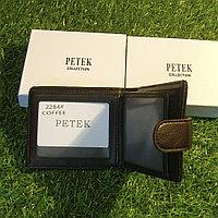 Мужское портмоне клатч кошелёк Petek Collection модель 2284 Black и Coffe. Видео обзор в описании!