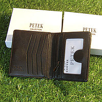 Мужское портмоне клатч кошелёк Petek Collection модель S-21 Black и Coffe. Видео обзор в описании!