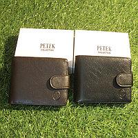 Мужское портмоне клатч кошелёк Petek Collection модель 3302 Black и Coffe. Видео обзор в описании!