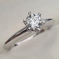 Сертификат IGI 0.50Сt SI1/J EX-Cut Золотое кольцо с бриллиантом, фото 1