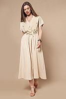 """Свободное платье """"Сафари"""" из трикотажа пике 46 размер"""