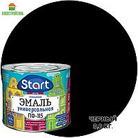 """Эмаль ПФ-115 черная """"Старт"""" фас 0.8 кг"""