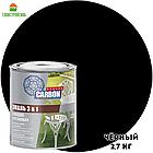 Грунт-эмаль по ржавчине 3 в 1 CARBON черный RAL 9011 2,7 кг