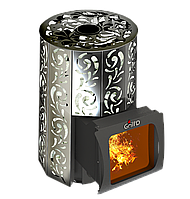 Дровяная печь для бани Grill D Violet Short Window Max +Жадеит 80 кг